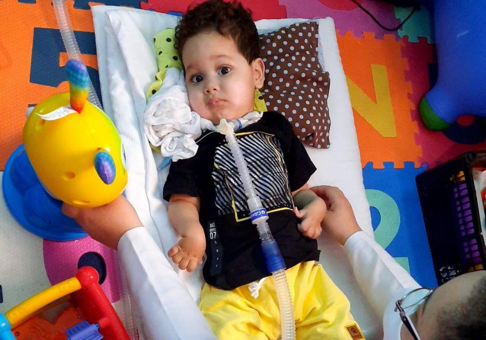 Arthur Belo nasceu em novembro de 2018 e foi diagnosticado com AME aos três meses de