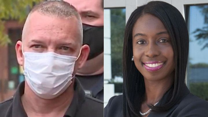 Portsmouth, Virginia, police Sgt. Kevin McGee, left, and the local prosecutor, Stephanie Morales.