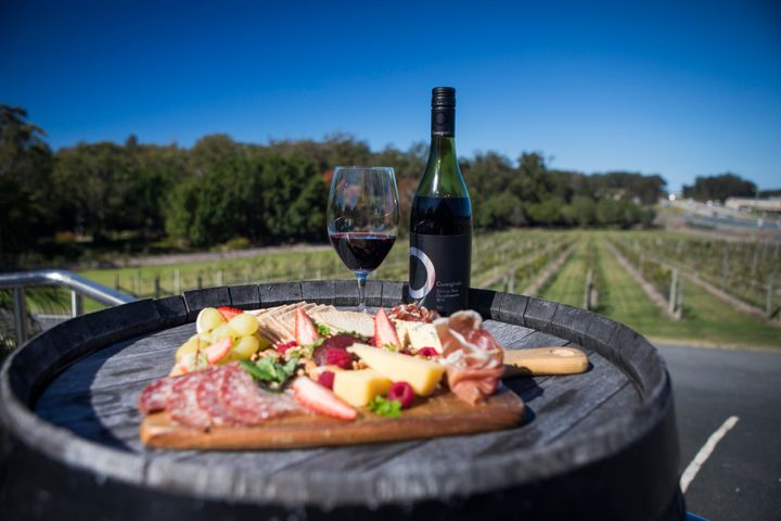 Cassegrain Winery, a vineyard in the Port Macquarie area, offers tours and cheeseboards in the vines during ArtWalk.