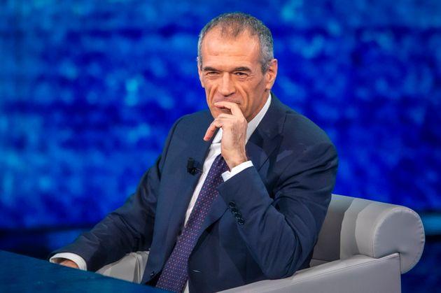 MILAN, ITALY - JANUARY 19: Carlo Cottarelli attends Che Tempo Che Fa TV Show on January 19, 2020 in Milan,...
