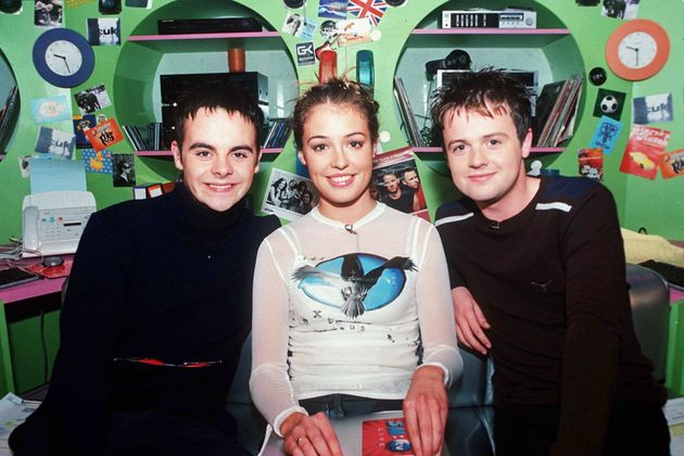 Ant and Dec with Cat Deeley in 1998, the year SM:TV Live debuted