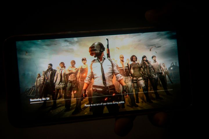 The PUBG Mobile game, owned by Chinese internet giant Tencent.