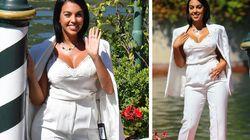 Georgina Rodriguez incanta Venezia, ma dimentica l'etichetta attaccata alla