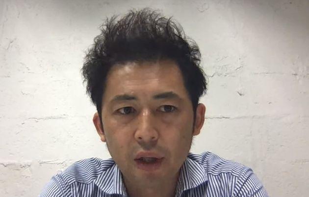 ハフポスト日本版の取材に応じる株式会社KAKEAIの本田英貴社長