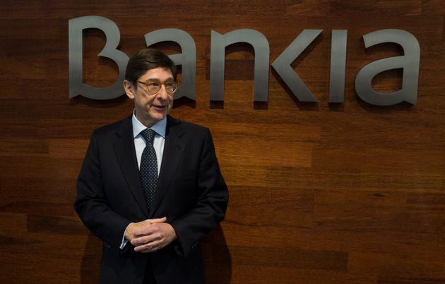El presidente de Bankia, José Ignacio Goirigolzarri, en una presentación de resultados...