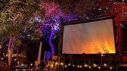 Σινεμά στους κήπους του Σάντριγχαμ, την εξοχική κατοικία της βασίλισσας