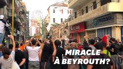 Beyrouth retient son souffle devant le possible sauvetage d'un survivant, 30 jours après