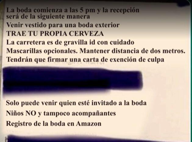 Covid-19: en Espagne, cette invitation de mariage en pleine pandémie fait