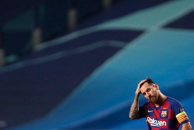 Lionel Messi lors de la défaite de son club face au Bayern Múnich en Ligue des Champion...