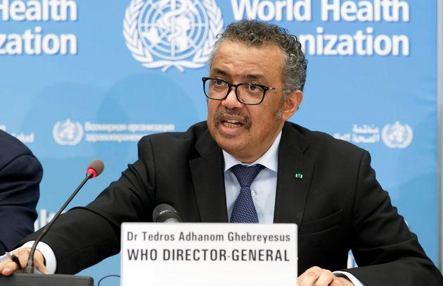 Le directeur général de l'OMS Tedros Adhanom Ghebreyesus, ici en février à...