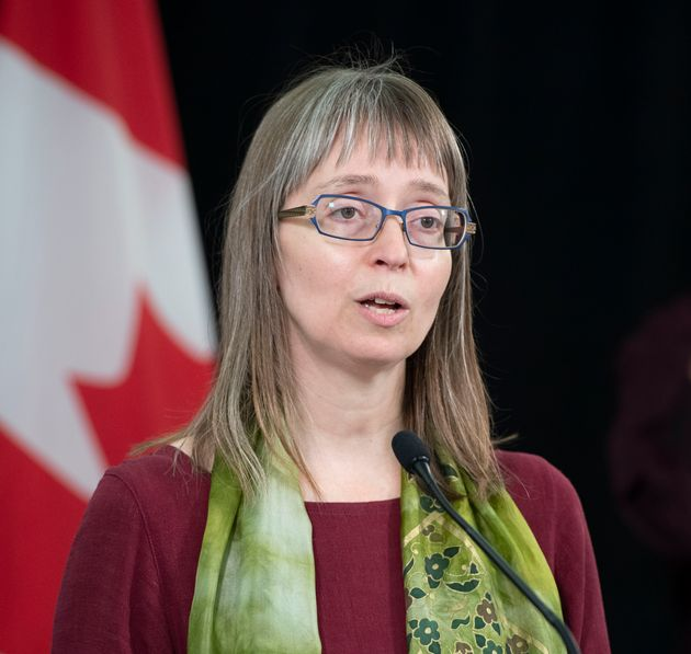 Alberta chief medical officer of health Dr. Deena Hinshaw provides an update on COVID-19 on July 30,