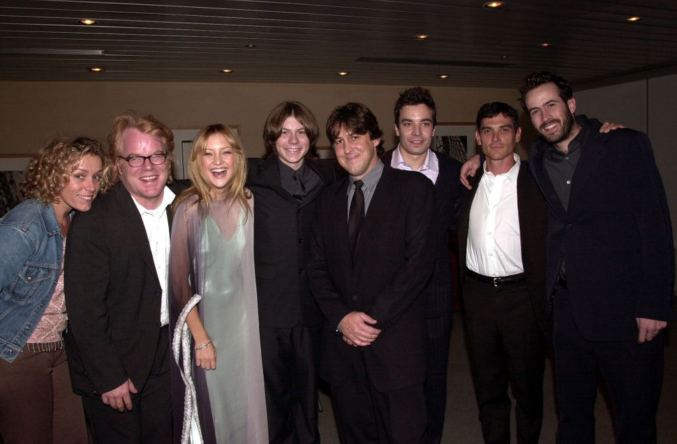 Frances McDormand, Philip Seymour Hoffman, Kate Hudson, Patrick Fugit, Cameron Crowe, Jimmy Fallon, Billy Crudup and Jason Le