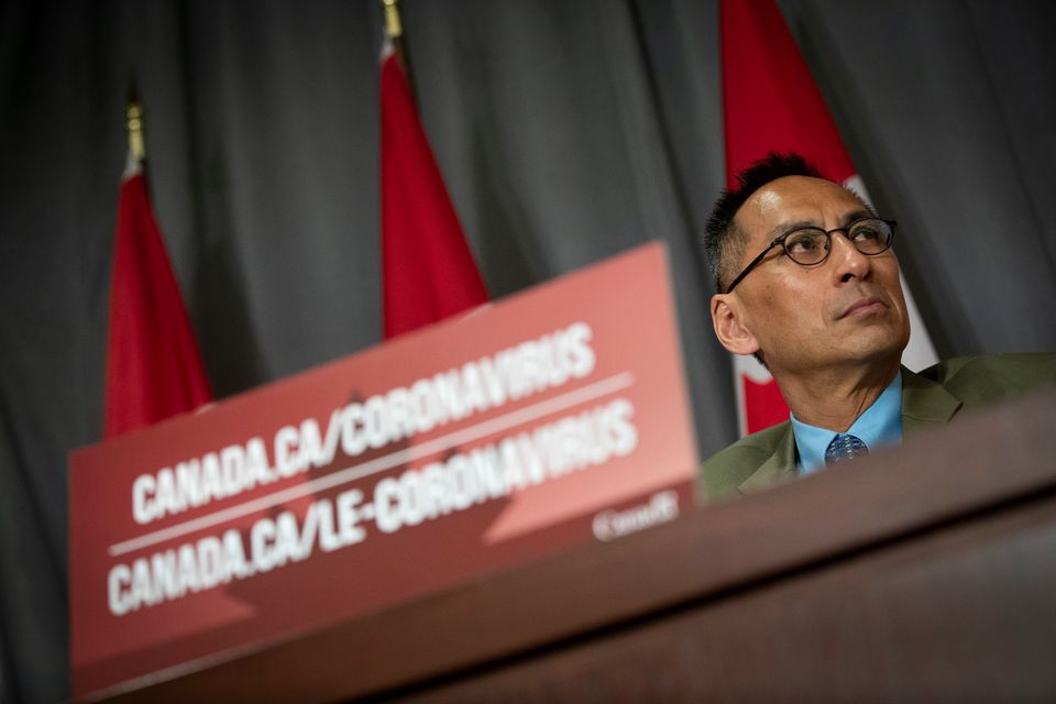 Deputy Chief Public Health Officer Dr. Howard Njoo during a Government of Canada briefing on the coronavirus...