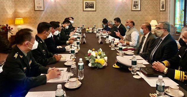 Defence Minister Rajnath Singh holds talks with his Chinese counterpart General Wei
