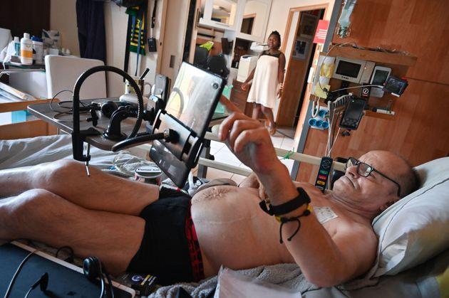 Alain Cocq, ici photographié le 12 août 2020, militant pour une fin de vie