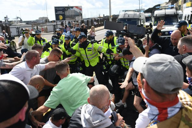 Anti-Immigration Protesters Clash With Police In Dover
