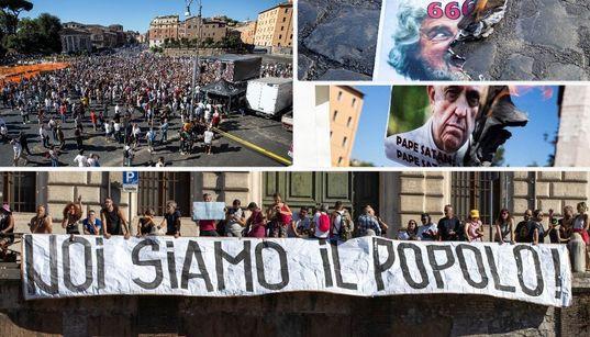 Follie in libera uscita. La piazza No Mask sfila per Roma (di L.