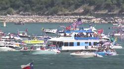 Plusieurs embarcations coulent dans un événement en soutien à Donald