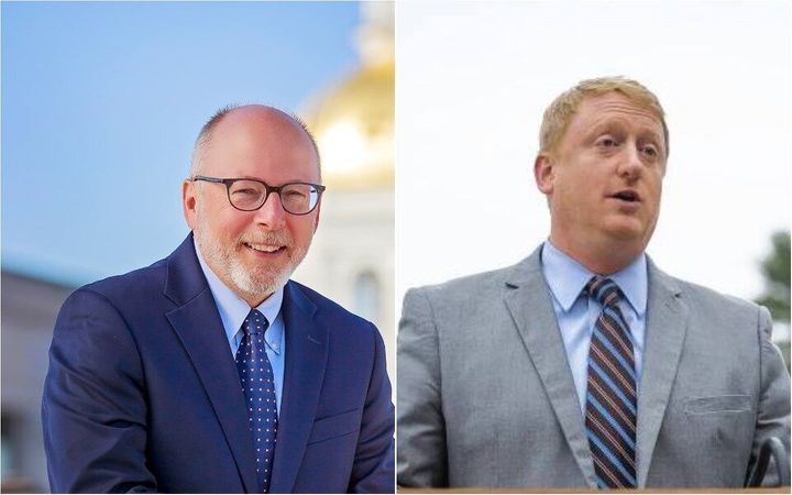 Andru Volinsky (left), an attorney and education activist, is running to the left of state Senate Majority Leader Dan Feltes