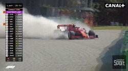 Le crash impressionnant de Charles Leclerc qui a interrompu le Grand Prix
