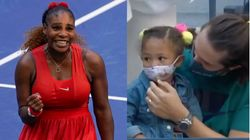 Serena Williams' Reaction To Seeing Daughter At U.S. Open Is So