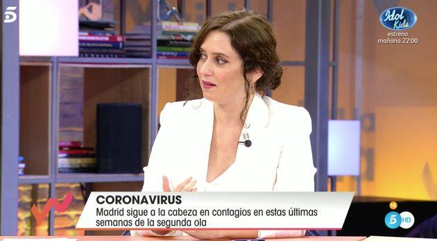 Isabel Díaz Ayuso en 'Viva la