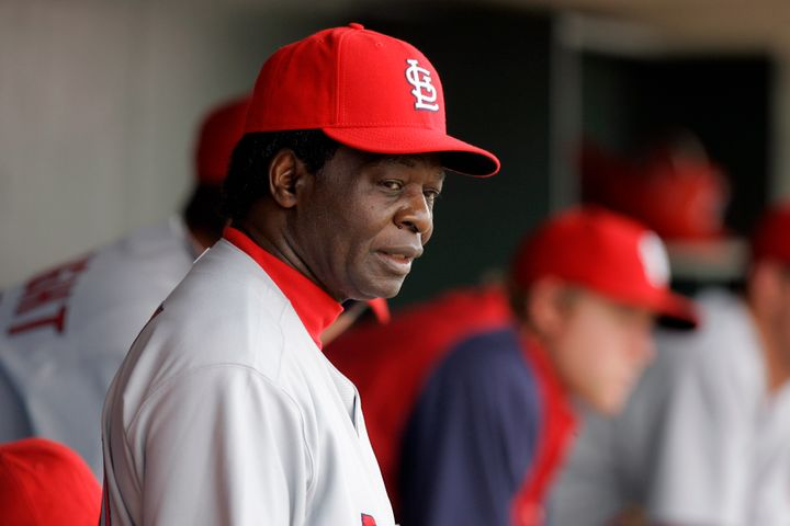 Former St. Louis Cardinals great and Hall of Famer Lou Brock in 2008.