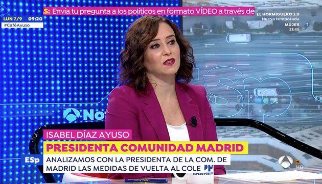 Isabel Díaz Ayuso, este lunes en 'Espejo