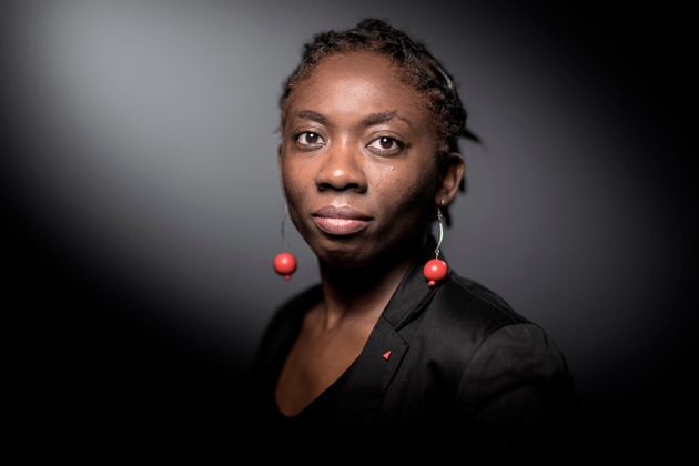 French leftist La France Insoumise (LFI) member of Parliament Daniele Obono poses during a photo session...