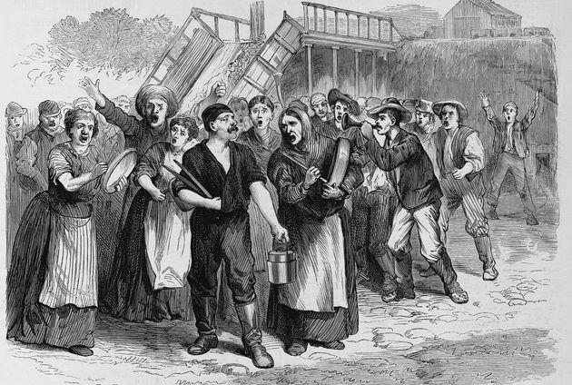 Strike of Coal-Miners at Washingtonville, Ohio Illustration Published in Frank Leslie's Illustrated Newspaper...