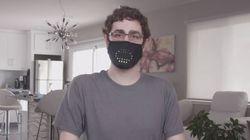 Μάσκα LED που «χαμογελάει» ή «μιλάει» μαζί με αυτόν που τη