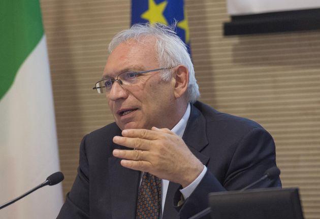 Patrizio Bianchi, durante la tavola rotonda conclusiva dellevento ''Villa Mondragone International Economic...