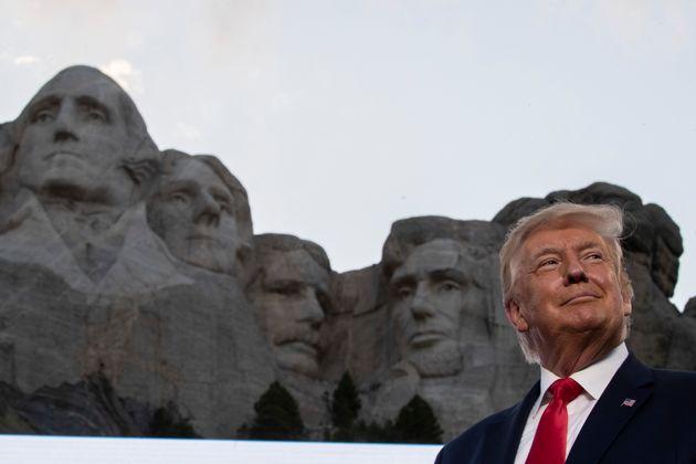 Donald Trump, en el Monte Rushmore, el 3 de julio de