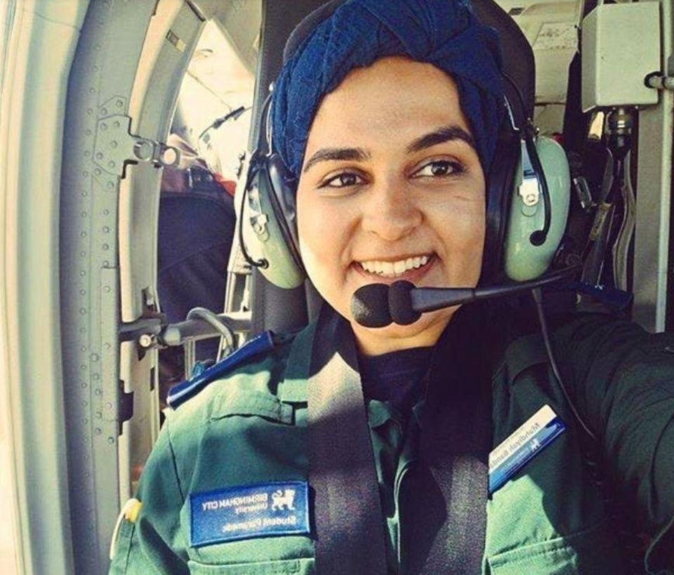Mahdiyah Bandali, 21, a graduate paramedic based in