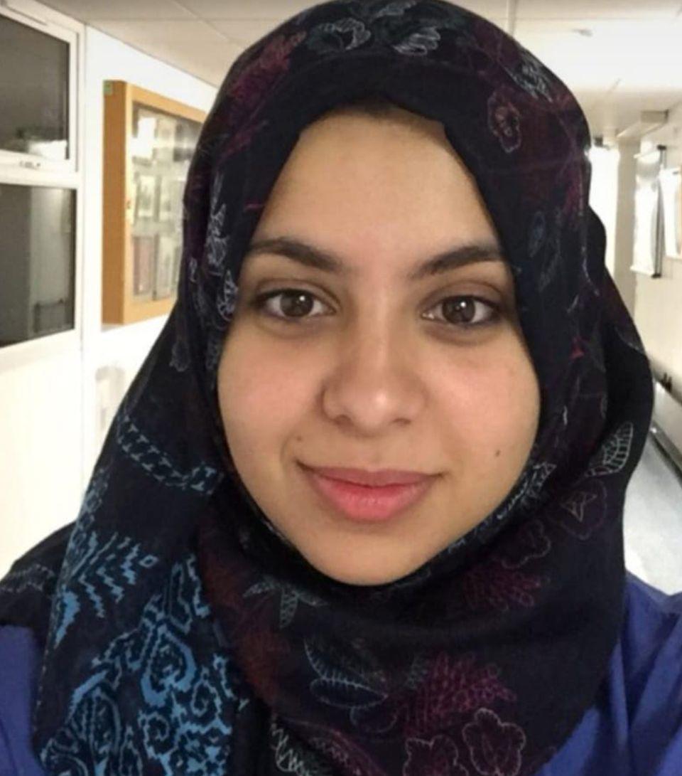 Zineb Mehbali, 32, a registrar in obstetrics and