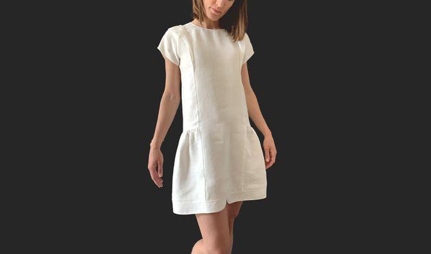 La petite robe verte de Tissuni est blanche, l'une des couleurs les moins