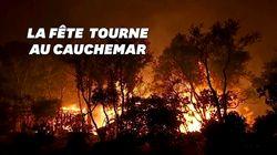 En Californie, un incendie géant causé par une