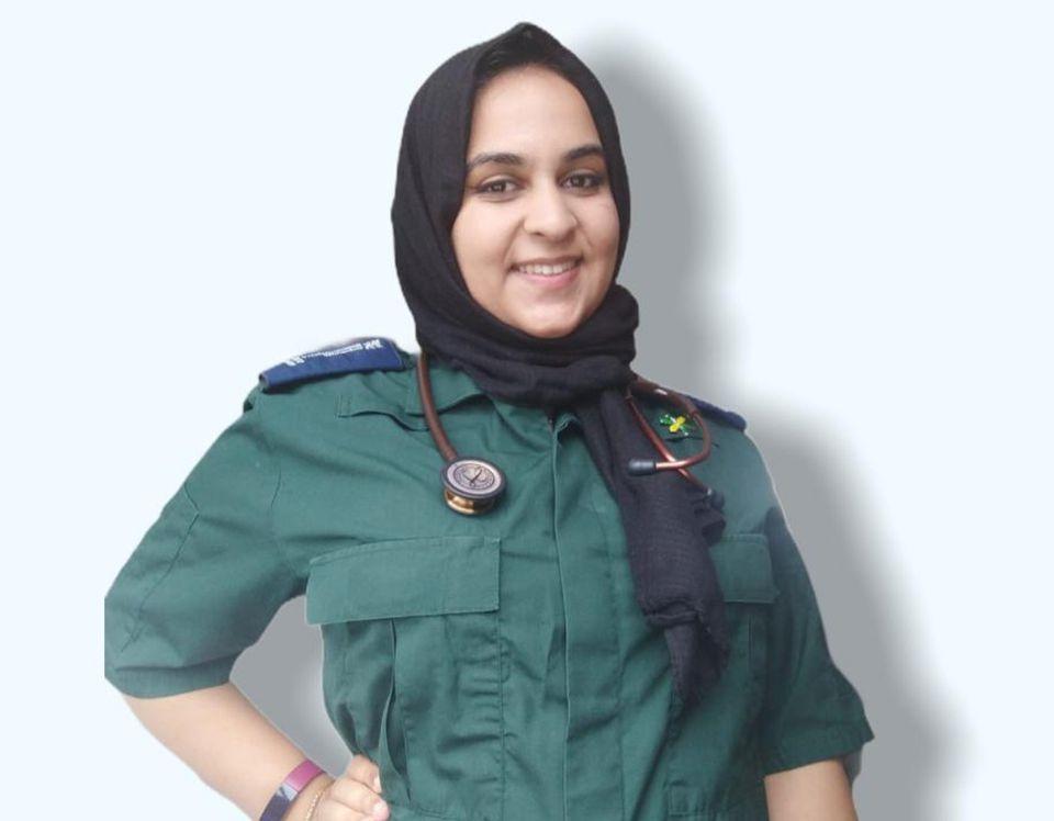Madiyah Bandali, 21, a graduate paramedic