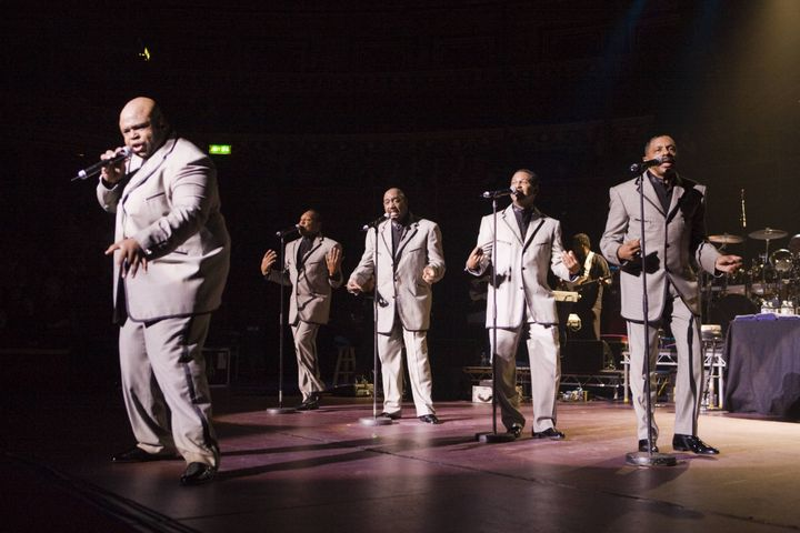 Bruce Williamson, Joe Herndon, Otis Williams, Ron Tyson and Terry Weeks at Royal Albert Hall on Nov. 19, 2007.