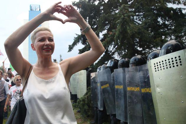 Maria Kolesnikova est la dernière figure de l'opposition qui a osé rester dans le pays...