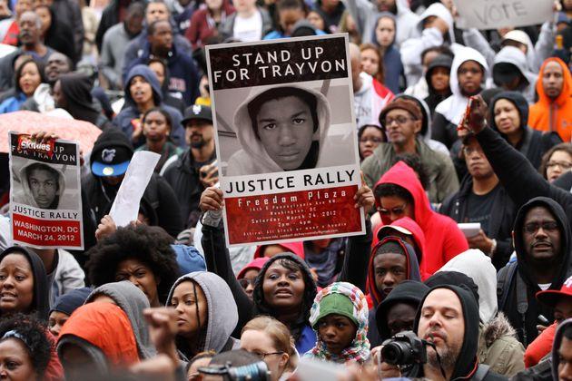 マーティンさんの射殺事件に対する抗議集会(ワシントン、2012年3月)