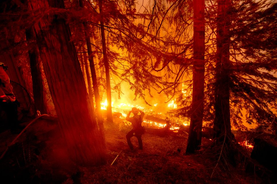 The Creek Fire had charred more than 114 square miles of timber after breaking out Friday.