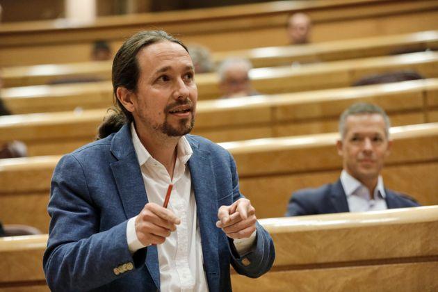 Pablo Iglesias, el pasado 14 de julio, en una comparecencia en el