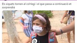 Una niña, sobre el uso de las mascarillas:
