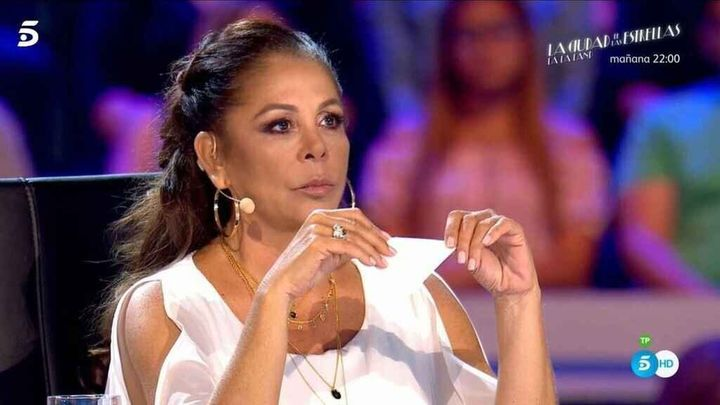 Isabel Pantoja en su primer programa de 'Idol Kids'.