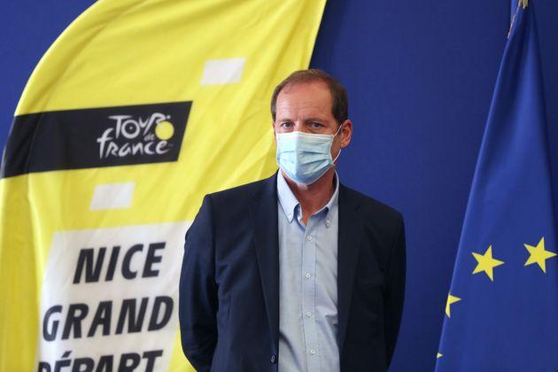 Le directeur du Tour de France Christian Prudhomme, ici photographié au départ de Nice...