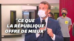 Macron promet un internat d'excellence par département en