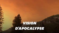 Les feux de Californie créent une ambiance apocalyptique au parc