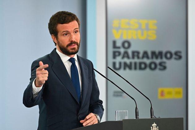 Pablo Casado, el pasado 2 de septiembre en Moncloa tras reunirse con Pedro