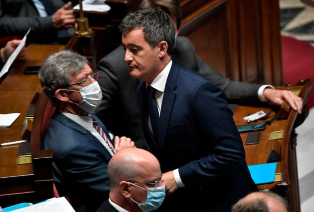 Gérald Darmanin durant à l'Assemblée nationale durant les questions au gouvernement...